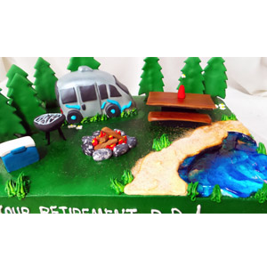 (2288) retirement Camper Cake