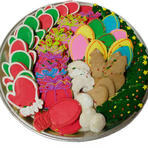 Large Iced Holiday Cookie Tray