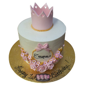 2374 1st Birthday Princess Cake