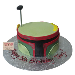 Boba Fett Star Wars head cake